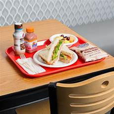 choice 14 quot x 18 quot red plastic fast food tray