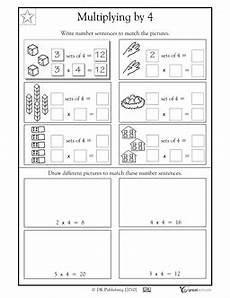 multiplication sentence worksheets for grade 3 4813 number sentences multiplying by 4 3rd grade math worksheets 2nd grade worksheets math