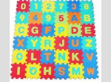 Alphabet Numbers EVA Floor Mat Baby Room Jigsaw Mat Soft