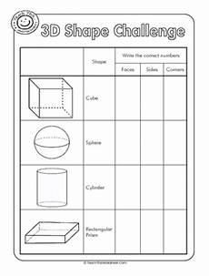 shapes attributes worksheets 1035 3d shapes worksheets 3d shape challenge properties of 3d shapes shapes worksheets 3d