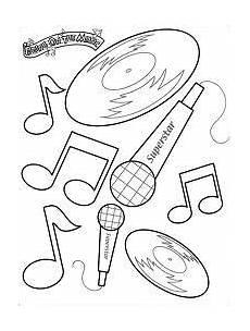 coloring page deckblatt schule musik arbeitsblatt
