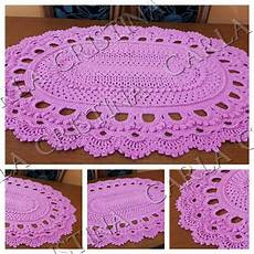 Tapete Russo Oval Rosa No Elo7 Carla Cristina E Crochet