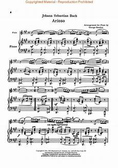 arioso sheet music by johann sebastian bach sheet music plus