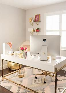 Home Decor Ideas Gold by White And Gold Offices An And Inspirational Workspace