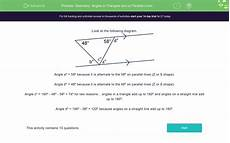 geometry lines worksheets 791 geometry angles in triangles and on parallel lines worksheet edplace