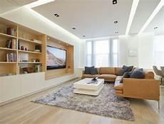 Wohnzimmer Decken Ideen - gestalten abgeh 228 ngte decke led beleuchtung shaggy teppich