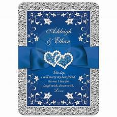 Blue Invitations Wedding