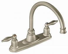 moen 2 handle kitchen faucet moen castleby stainless two handle high arc kitchen faucet kitchen faucets new york by