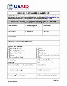 aid 201 1 mission concurrence request form u s agency