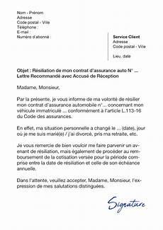 lettre de résiliation contrat d assurance lettre de r 233 siliation assurance auto avant 233 ch 233 ance motifs l 233 gitimes
