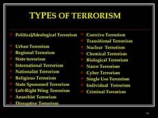 forms of terrorism there are a variety of different types of terrorism cyb
