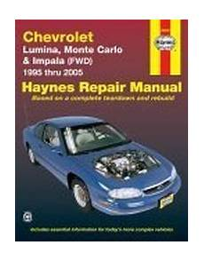 free online car repair manuals download 1994 chevrolet 3500 seat position control 1995 2005 chevrolet lumina monte carlo 2000 2003 impala fwd haynes repair manual