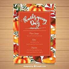 thanksgiving menu card template free thanksgiving vectors photos and psd files free
