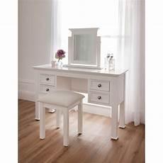 Shabby Chic Dressing Table Set White Finished