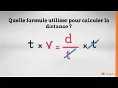 Manipuler Une Formule Vitesse Distance Et Temps M 233 Thode