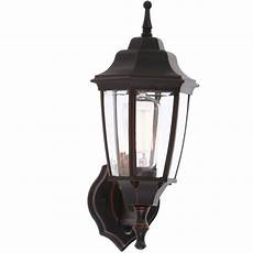 hton bay 1 light rubbed bronze outdoor dusk to dawn wall lantern bpp1611 orb the home depot
