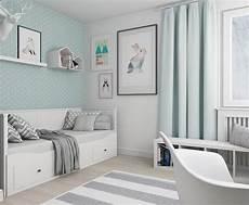 Kinderzimmer 9 Qm Einzelbett Mit Schubladen Mintgr 252 N Wei 223