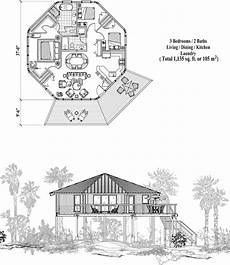 house on stilts floor plans piling collection pg 0416 1135 sq ft 3 bedrooms 2