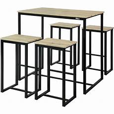 mange debout 4 personnes set de 1 table 4 tabourets ensemble table de bar bistrot