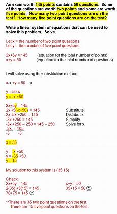 systems of equations word problems systems of equations college math math lessons