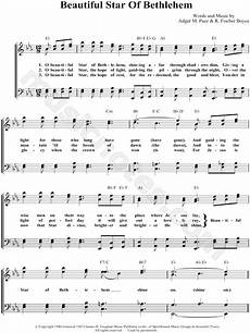 bill gloria gaither quot beautiful star of bethlehem quot sheet music in eb major transposable