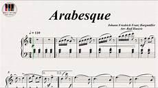 arabesque johann friedrich franz burgm 252 ller piano youtube
