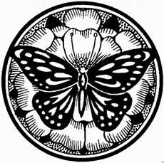 schmetterling mandala ausmalbild malvorlage mandalas