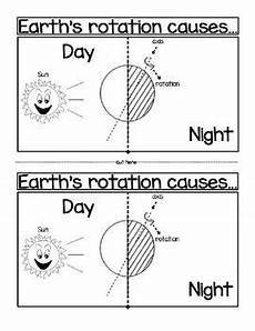 rotation of the earth worksheets 14448 earth s rotation causes day and second grade science