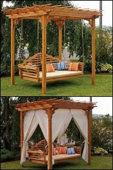 pergola swing outdoor cedar swing bed pergola in 2019 diy outdoor