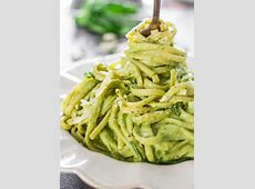creamy spinach and avocado pasta_image