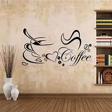wandtattoo kaffee esszimmer spruch mokka wandaufkleber