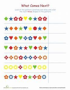 free patterns worksheets for 1st grade 359 worksheets complete the patterns 1 pattern worksheet math patterns math worksheets