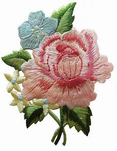 fiori patchwork 4028 3 quot pink peony bouquet flower embroidery iron on