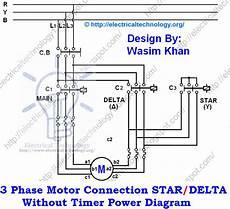 star delta starter motor starting method power control wiring