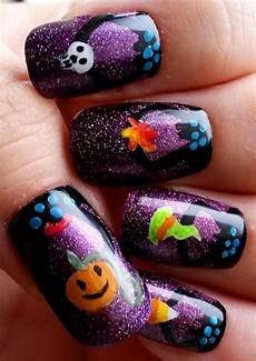 18 easy halloween pumpkin nails art designs ideas 2017