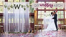 diy wedding ceremony backdrop easy no tools required