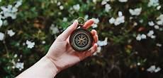 Himmelsrichtung Bestimmen Zeiger Der Uhr Als Kompass
