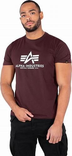 alpha industries basic t shirt maroon