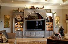 Kitchen Cabinets Entertainment Center by Furniture Style Entertainment Center Houses A Large Tv And