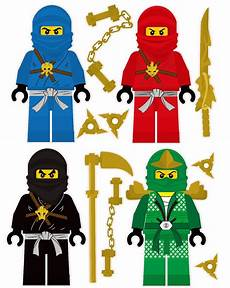 Ninjago Bilder Zum Ausdrucken Farbig Lego Ninjago 4 Ninjas Removable Wall Stickers Set With