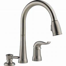kitchen faucet at home depot delta kate single handle pull kitchen faucet with soap dispenser the home depot canada