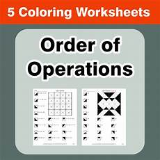 order of operations coloring worksheets by bios444