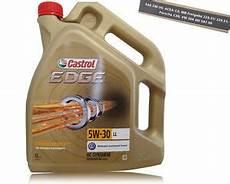 motoröl 5w30 longlife bidon 5l huile castrol edge 5w30 norme acea c3 vw 507 00
