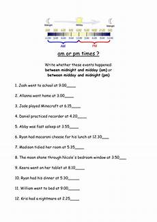 telling time worksheets using am and pm 3220 am or pm worksheet teaching resources