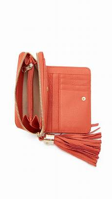 lyst see by chlo 233 vicki small wallet in orange