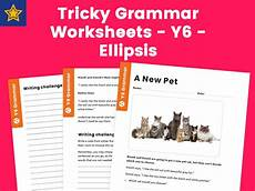 tricky grammar worksheets y6 ellipsis by teach primary teaching resources