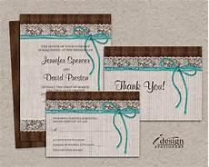 diy printable rustic turquoise wedding invitation sets