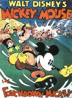touchdown mickey disney cartoon movie poster print ebay