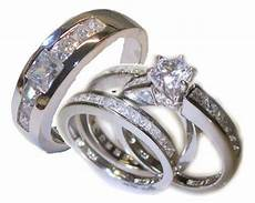 his 4 piece wedding ring white gold ep sterling