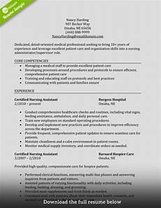 how to write a cna resume exles included
